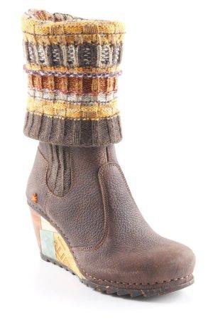 Art Heel Boots dark brown casual look