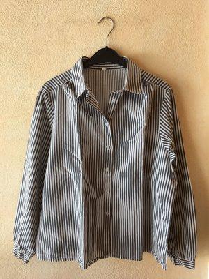 Oversized blouse zwart-wit