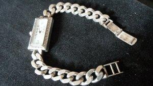 Art Deco 800 Silber Armbanduhr, alles massiv und gestempelt-Original 1920 TOP Erhalt