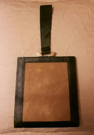 Bolso de mano beige-verde oscuro