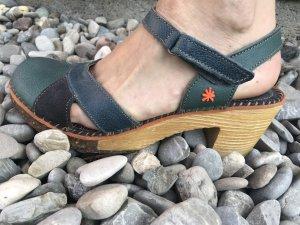 Art Platform High-Heeled Sandal multicolored leather