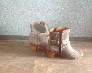 Art Botas con cremallera gris madera