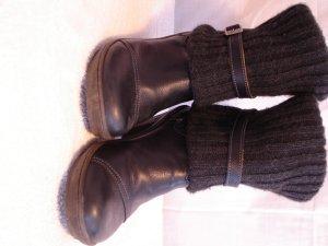 Art Slip-on Booties black leather