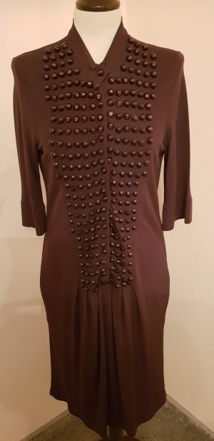 Art To Be Shortsleeve Dress dark brown viscose