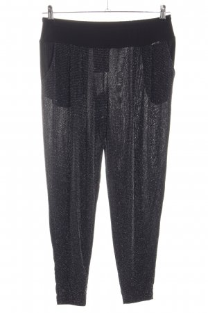 Artigli Baggy Pants black-silver-colored glittery