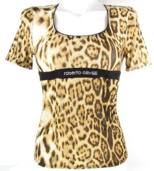 Artikelbild  Roberto Cavalli Damen Shirt T-Shirt Leopard-Print M 38 NEU