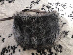 Artista Designer Fell Tasche XXL Shopper Silver Grey echt Leder Luxus npr 489