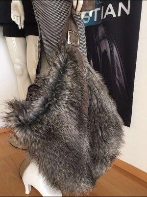 Artista Luxus Handtasche Fell Tasche XXL Shopper Silver Grey Leder npr über 500