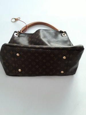 Louis Vuitton Carry Bag bronze-colored linen