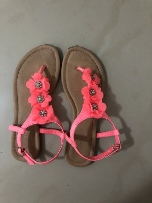 Sandales confort rouge framboise-rose