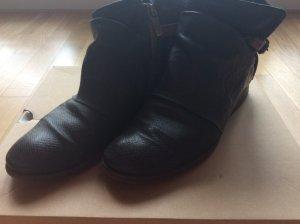 AS98 Slip-on Booties dark blue leather