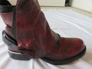low priced ff0fa b697f AS98 Zipper Booties dark red-carmine leather