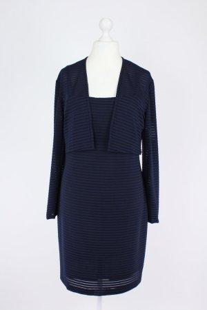 Asable Kleid mit Streifen blau Größe 42
