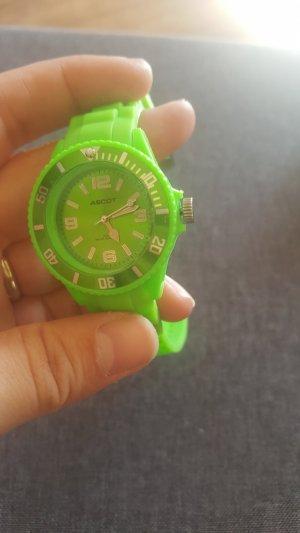 Montre vert fluo