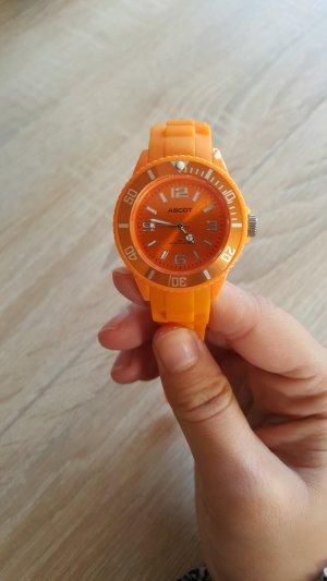 Montre orange fluo