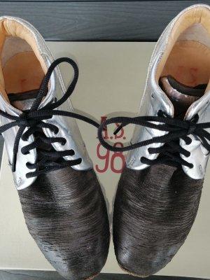 A.S.98 Sneaker con tacco nero-argento
