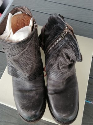 A.S.98 Stivaletto con zip grigio-grigio scuro