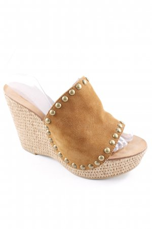 ASH Heel Pantolettes light brown-oatmeal Boho look
