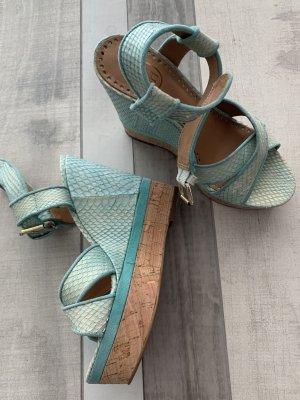 ASH Escarpin compensé turquoise