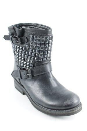ASH Ankle Boots schwarz Biker-Look