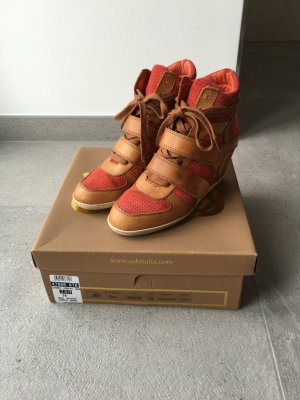 ASH Bea Camel/ Coral Wedge