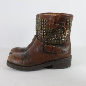 ASH Ankle Boots cognac-coloured leather