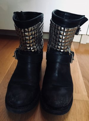 ASH Biker BOOTS NIETEN MASHED UP Style 38
