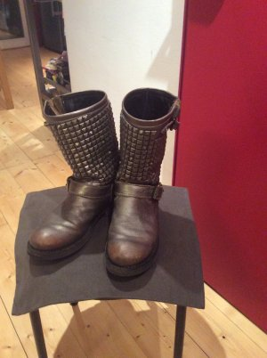 ASH High Boots silver-colored leather