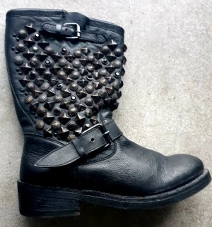 ASH Bottines à enfiler noir-argenté