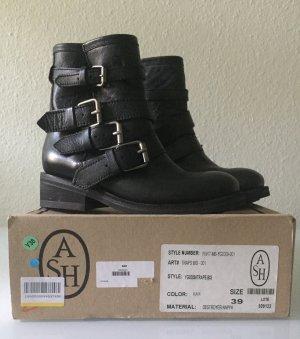 ASH Halfhoge laarzen zwart Leer