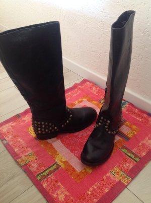 ASH Chaussures noir cuir