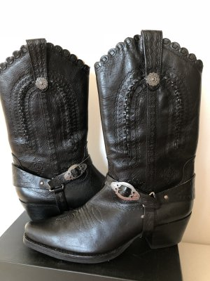 ASH Botas estilo vaquero negro