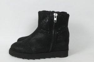 Ash Boots Gr. 40 schwarz Glitzer Leder NEU