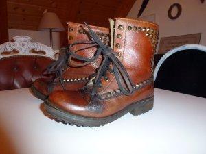 ASH Boots Vintage mit Nieten braun Leder