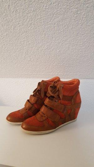 ASH Bowie Damen Wedge Stiefel orange braun Größe 39