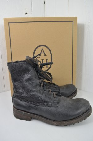 ASH Boots black-anthracite leather