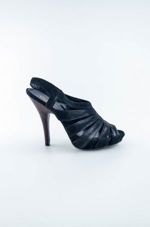 ASH Strapped pumps black leather