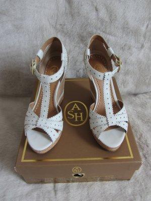 ASH Platform High-Heeled Sandal white-beige leather