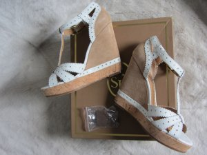 ASH Platform High-Heeled Sandal white-beige leather