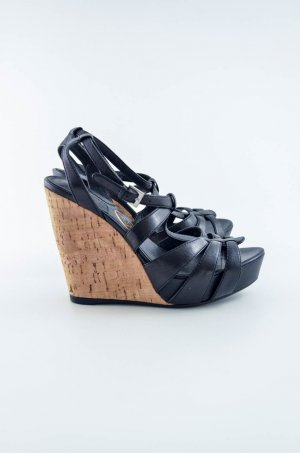 ASH Wedge Sandals black-beige leather