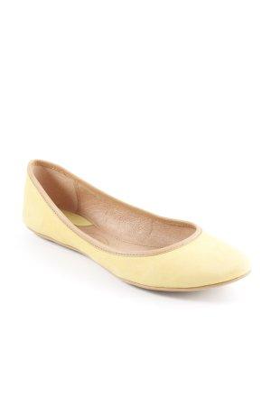 ASH Bailarinas plegables amarillo oscuro-beige estilo sencillo