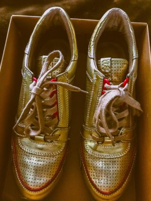 ASH Lace-Up Sneaker gold-colored