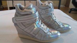 Ash Italia Sneaker Wedges Silber - wie neu -