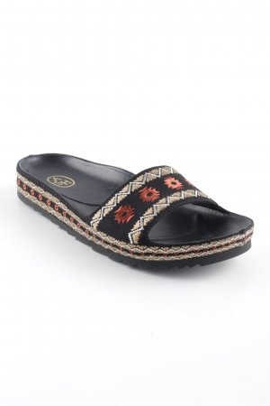 ASH Comfort Sandals gold-colored-black art pattern hippie style