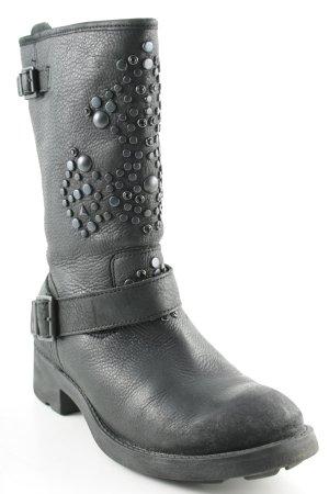 ASH Korte laarzen zwart-antraciet Biker-look