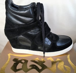 * ASH *  LIMITED * NEU ! HIGH TOP SNEAKER WEDGES LEDER schwarz Schnürer Gr 41