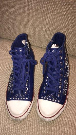 Ash limited Turnschuhe Sneaker Leder blau 41 neuwertig  Ungetragen