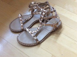 ASH Roman Sandals rose-gold-coloured-gold-colored leather
