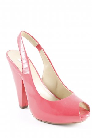ASH Peep Toe Pumps salmon wet-look