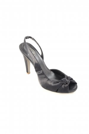 ASH Peeptoe Pumps schwarz Party-Look
